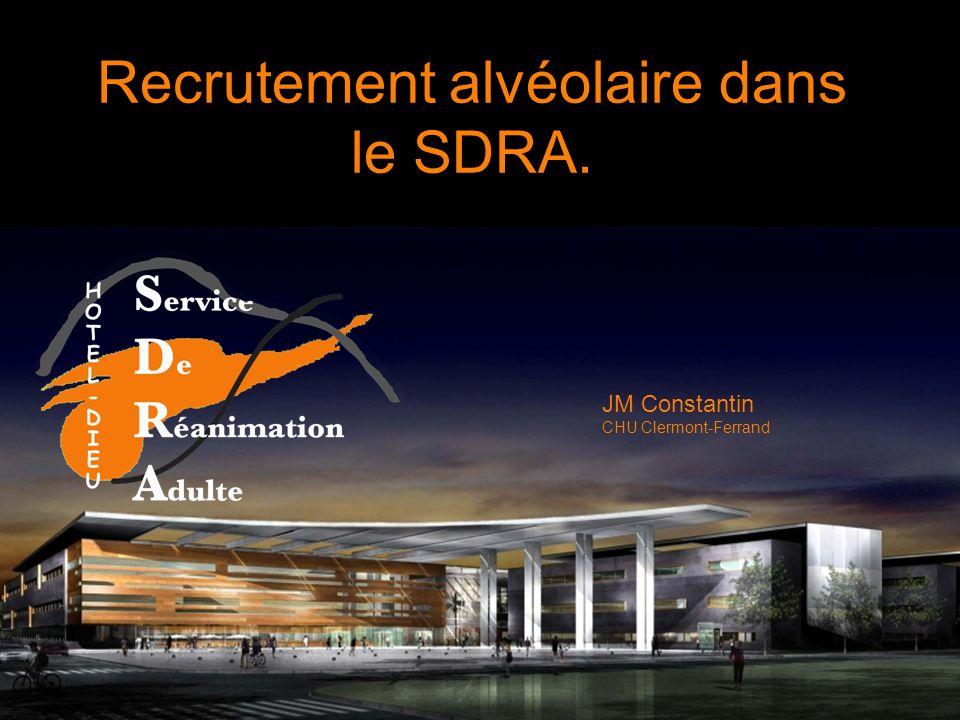 Recrutement alvéolaire dans le SDRA.