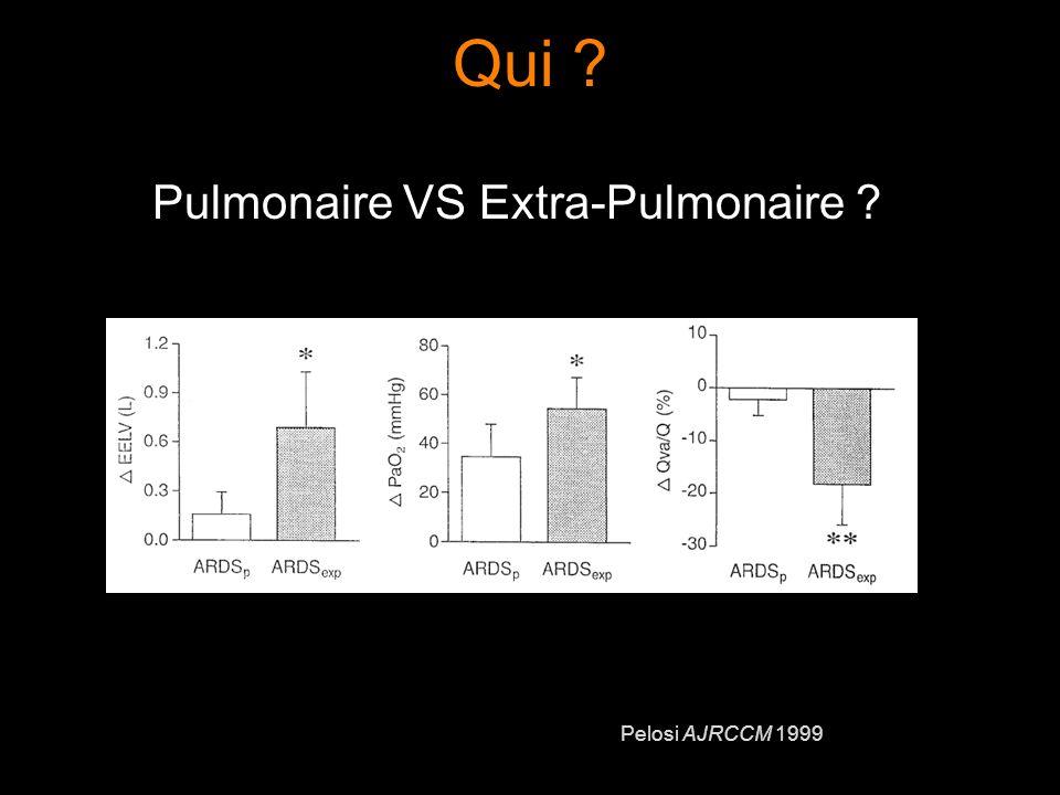 Qui Pulmonaire VS Extra-Pulmonaire Pelosi AJRCCM 1999