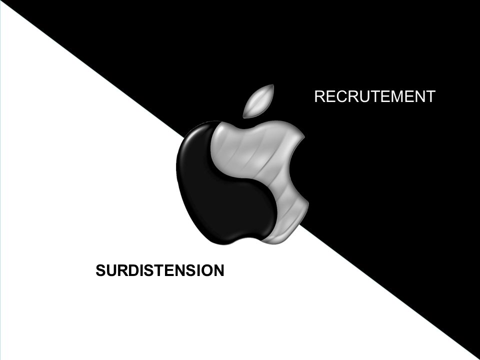 SURDISTENSION RECRUTEMENT