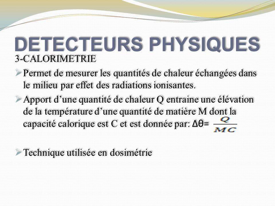 DETECTEURS PHYSIQUES 3-CALORIMETRIE
