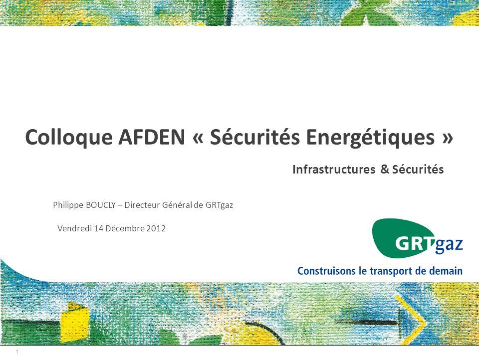 Colloque AFDEN « Sécurités Energétiques »
