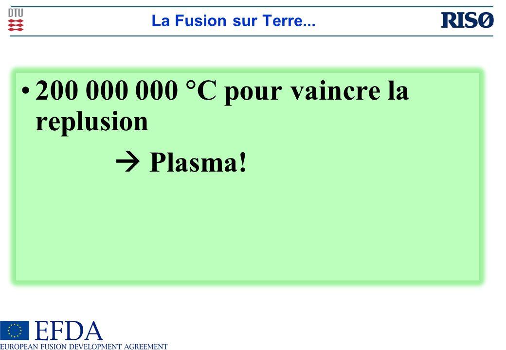 200 000 000 C pour vaincre la replusion  Plasma!