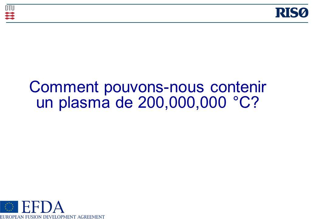 Comment pouvons-nous contenir un plasma de 200,000,000 °C