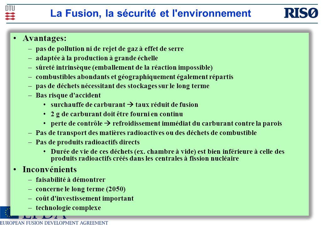 La Fusion, la sécurité et l environnement