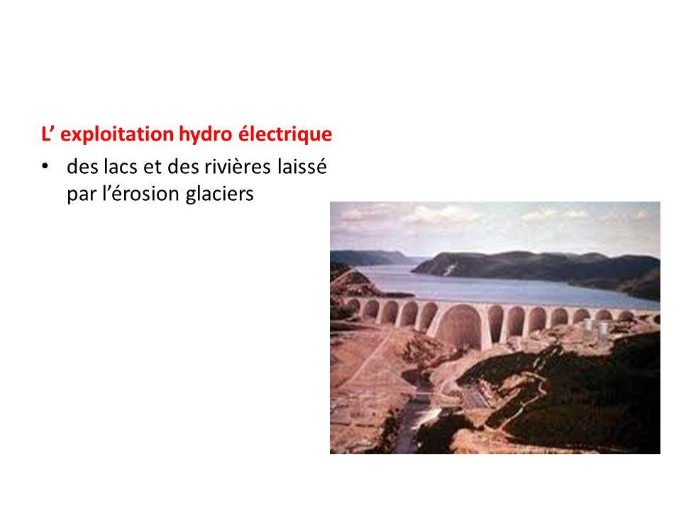 L' exploitation hydro électrique