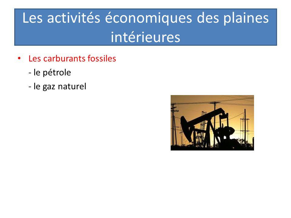Les activités économiques des plaines intérieures