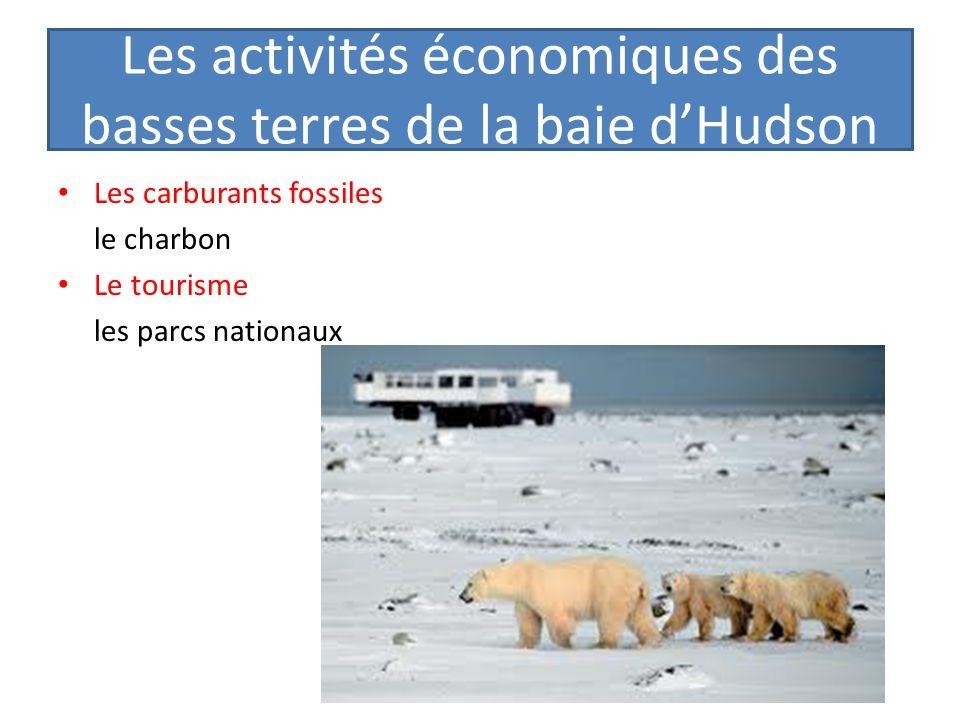 Les activités économiques des basses terres de la baie d'Hudson
