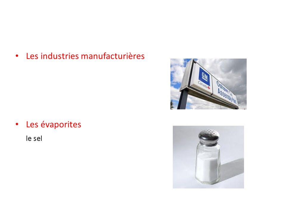 Les industries manufacturières