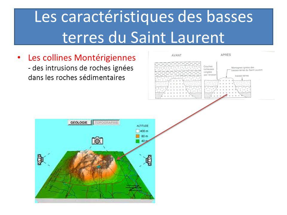 Les caractéristiques des basses terres du Saint Laurent