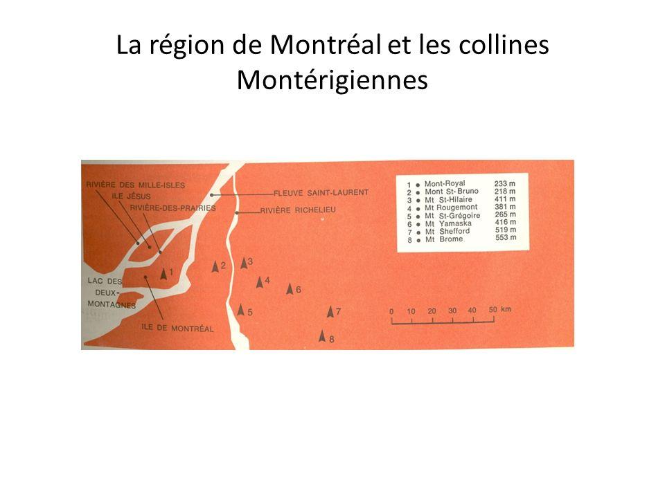 La région de Montréal et les collines Montérigiennes