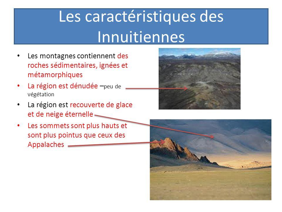 Les caractéristiques des Innuitiennes