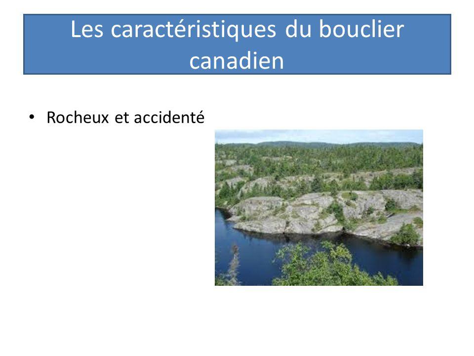 Les caractéristiques du bouclier canadien