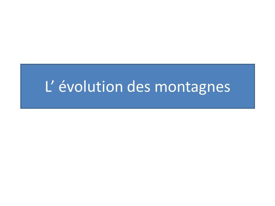 L' évolution des montagnes