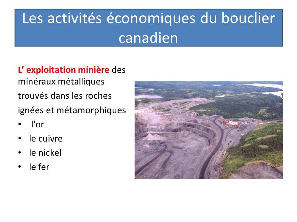 Les activités économiques du bouclier canadien