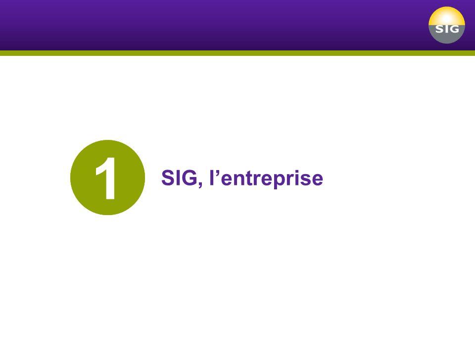 1 SIG, l'entreprise
