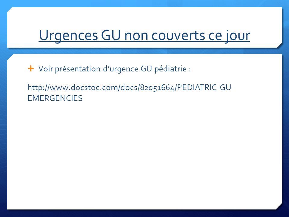 Urgences GU non couverts ce jour