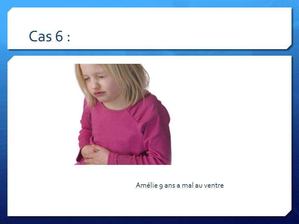 Cas 6 : Dlr FID / pelvienne d Amélie 9 ans a mal au ventre