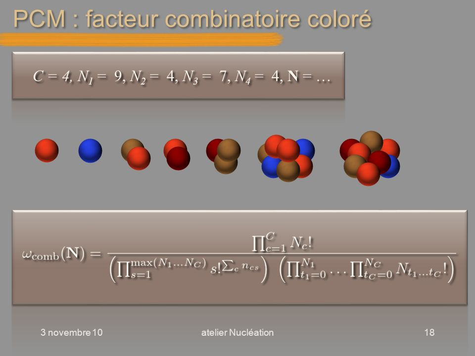 PCM : facteur combinatoire coloré