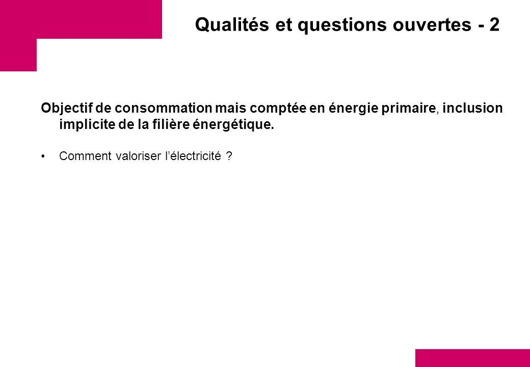 Qualités et questions ouvertes - 2