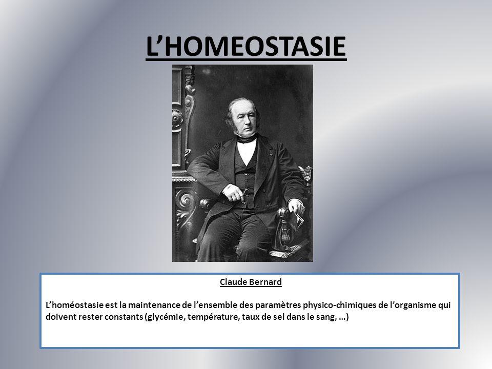 L'HOMEOSTASIE Claude Bernard