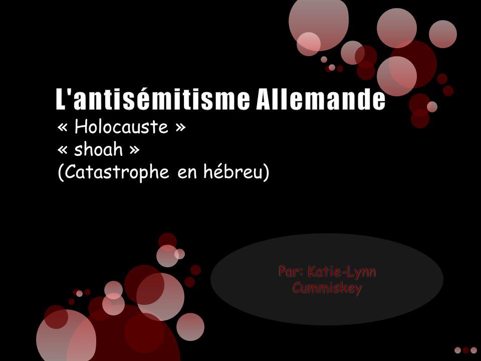 L antisémitisme Allemande