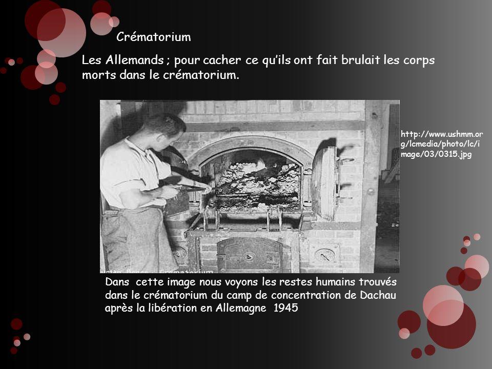 Crématorium Les Allemands ; pour cacher ce qu'ils ont fait brulait les corps morts dans le crématorium.