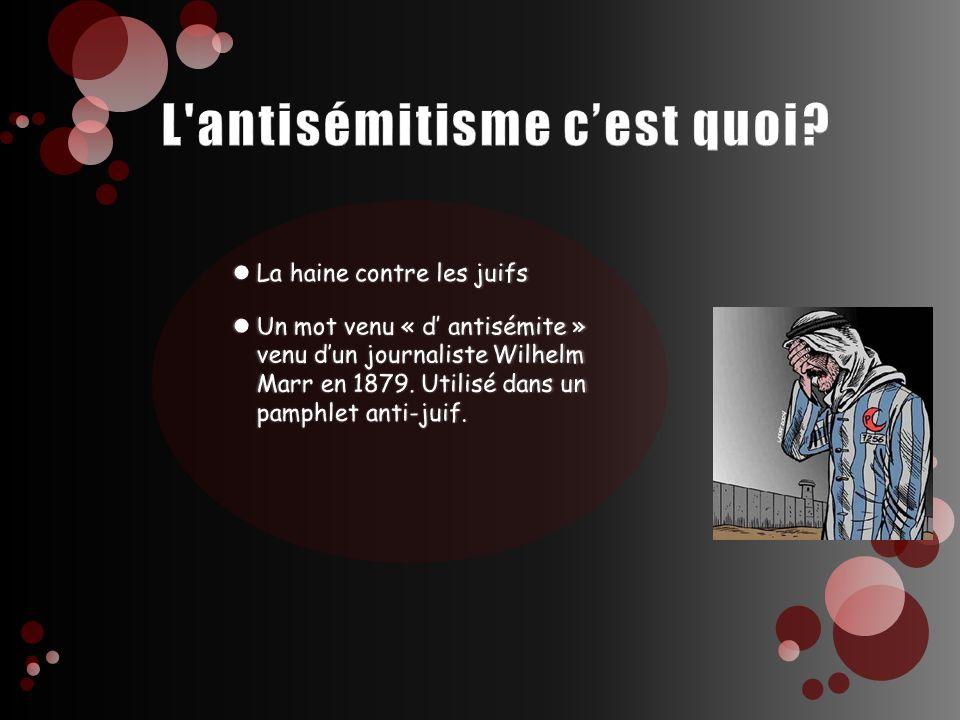L antisémitisme c'est quoi