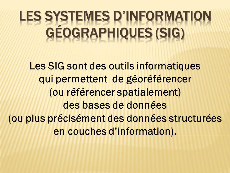 Les Systemes d'information géographiques (sig)