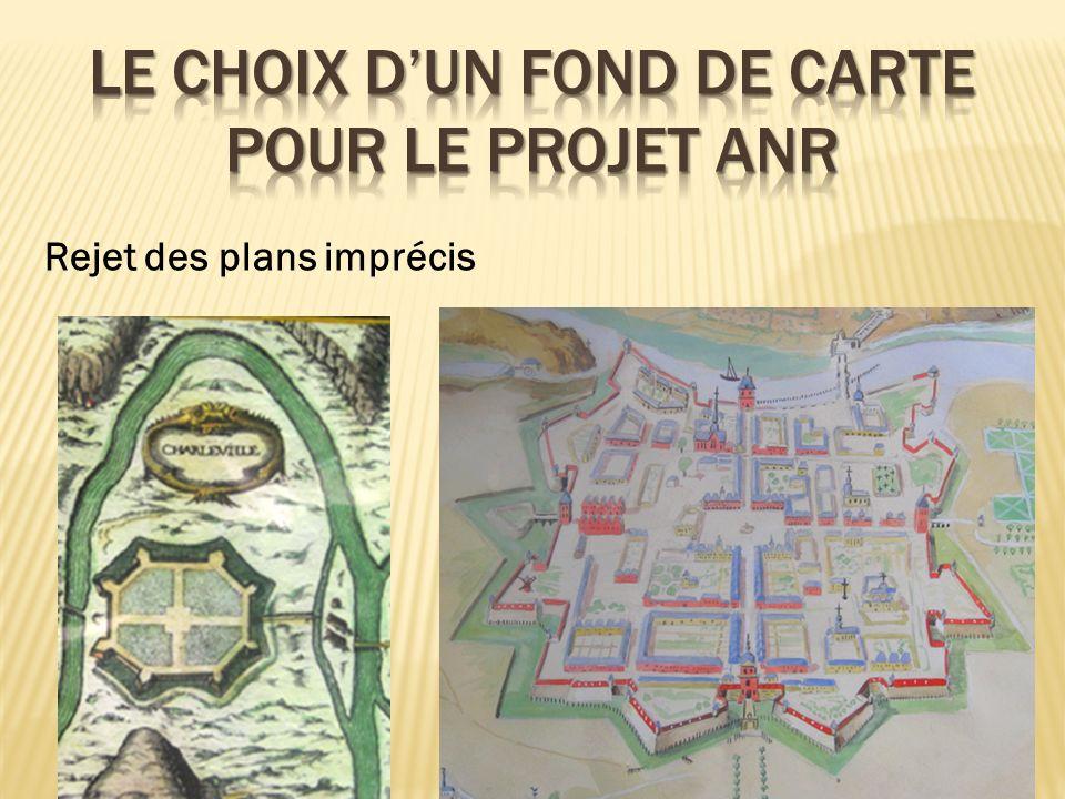 Le choix d'un fond de carte pour le projet anr