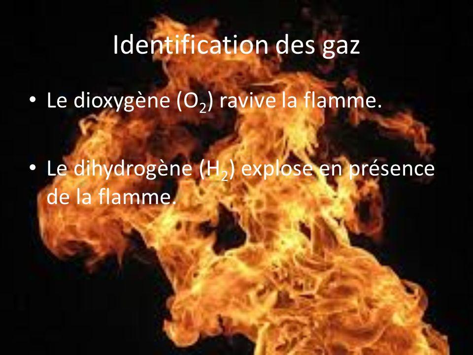 Identification des gaz