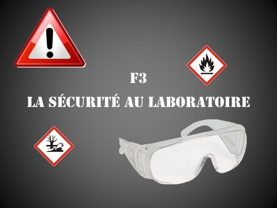 F3 La sécurité au laboratoire