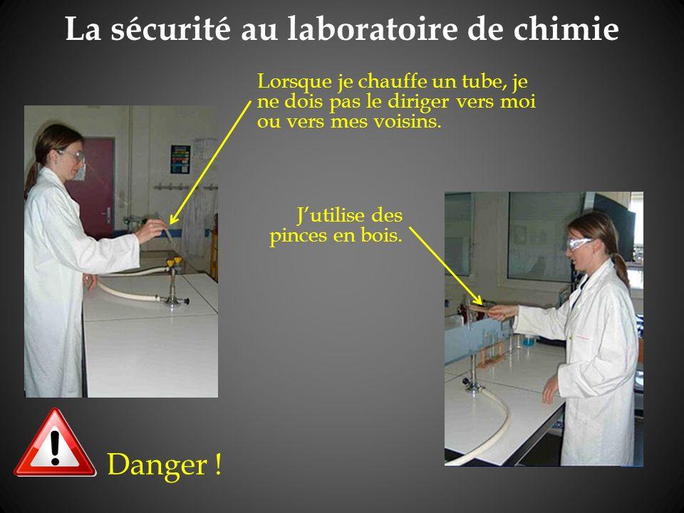 La sécurité au laboratoire de chimie