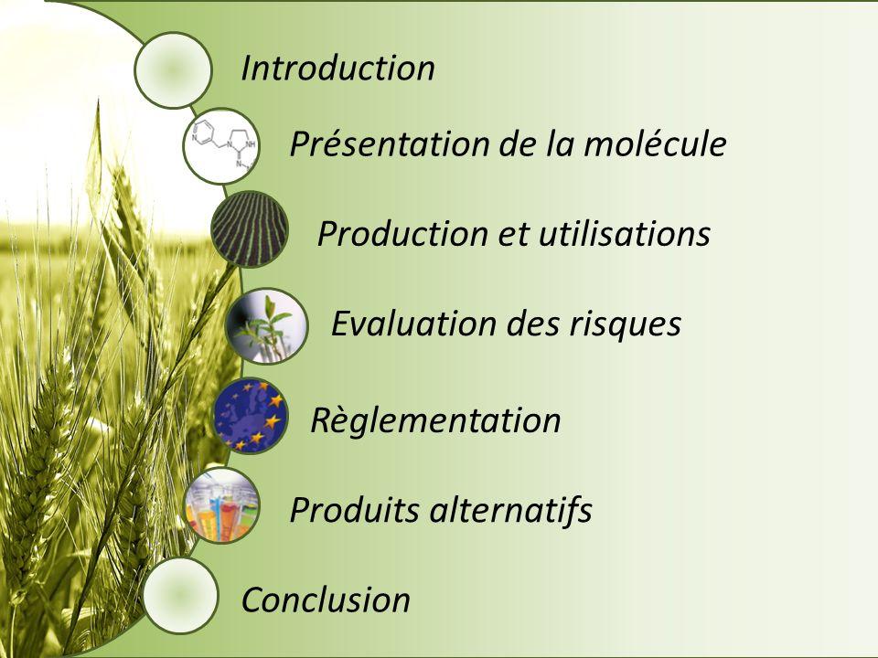 Introduction Présentation de la molécule. Production et utilisations. Evaluation des risques. Règlementation.