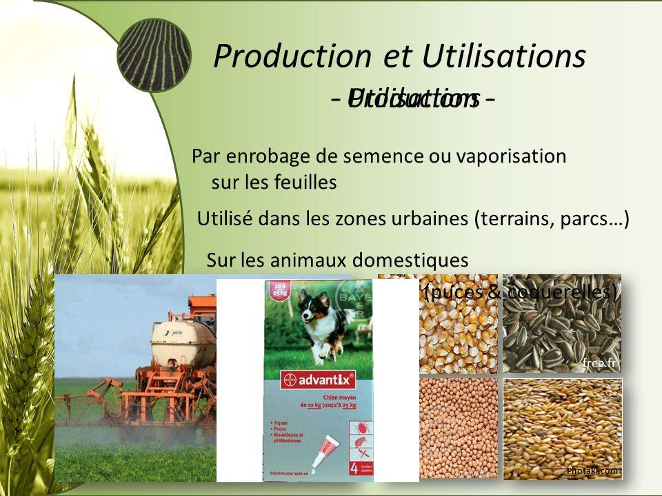 Production et Utilisations