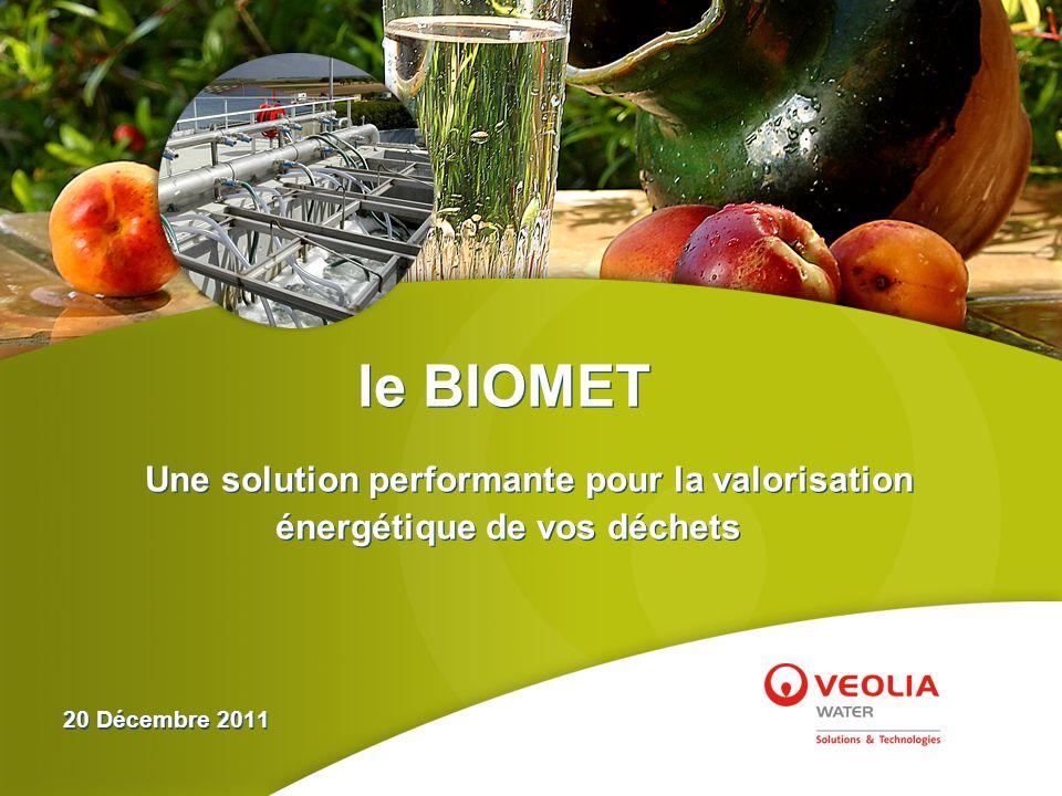 le BIOMET Une solution performante pour la valorisation énergétique de vos déchets.
