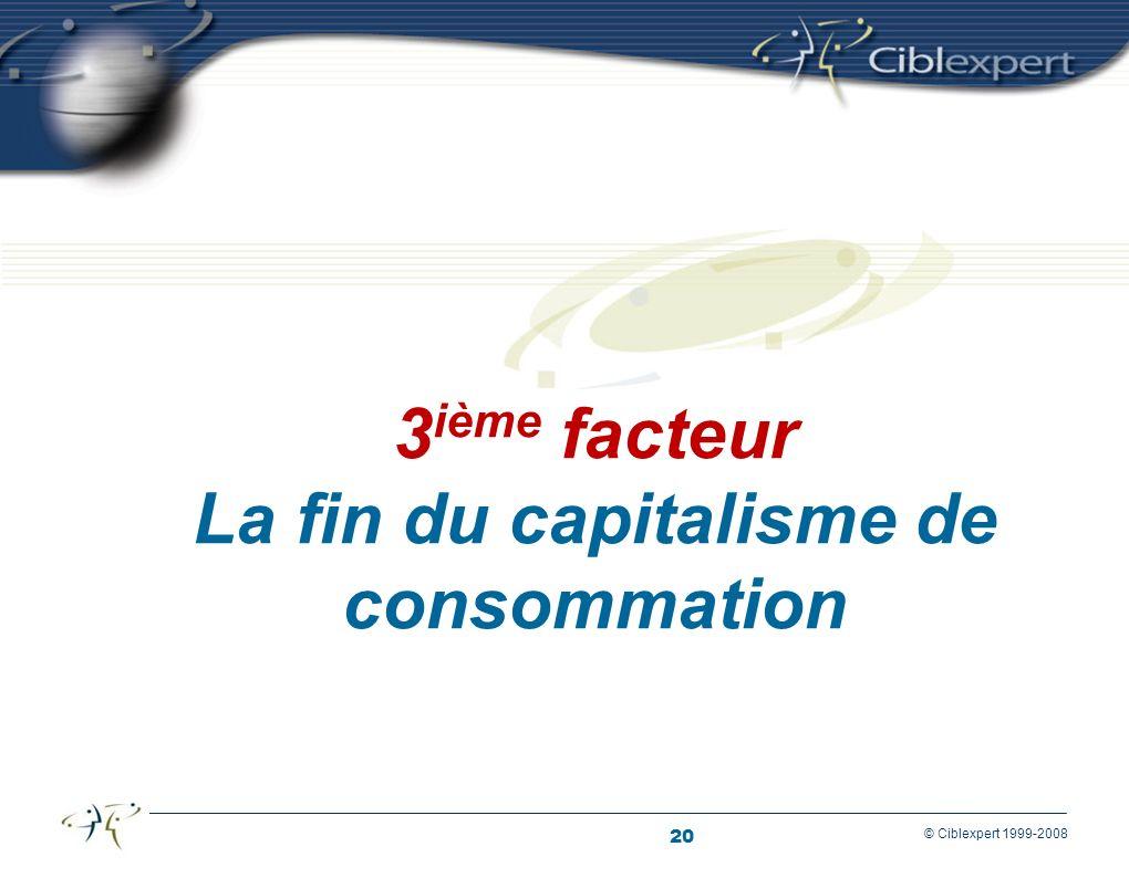 3ième facteur La fin du capitalisme de consommation