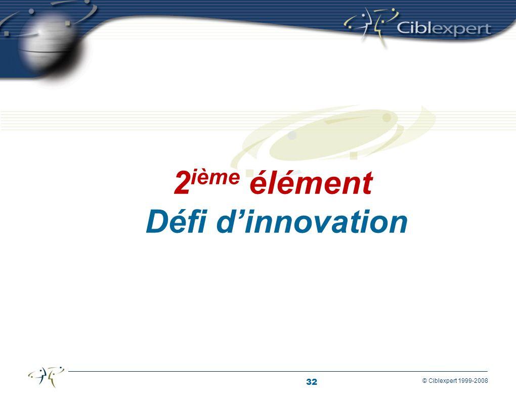 2ième élément Défi d'innovation