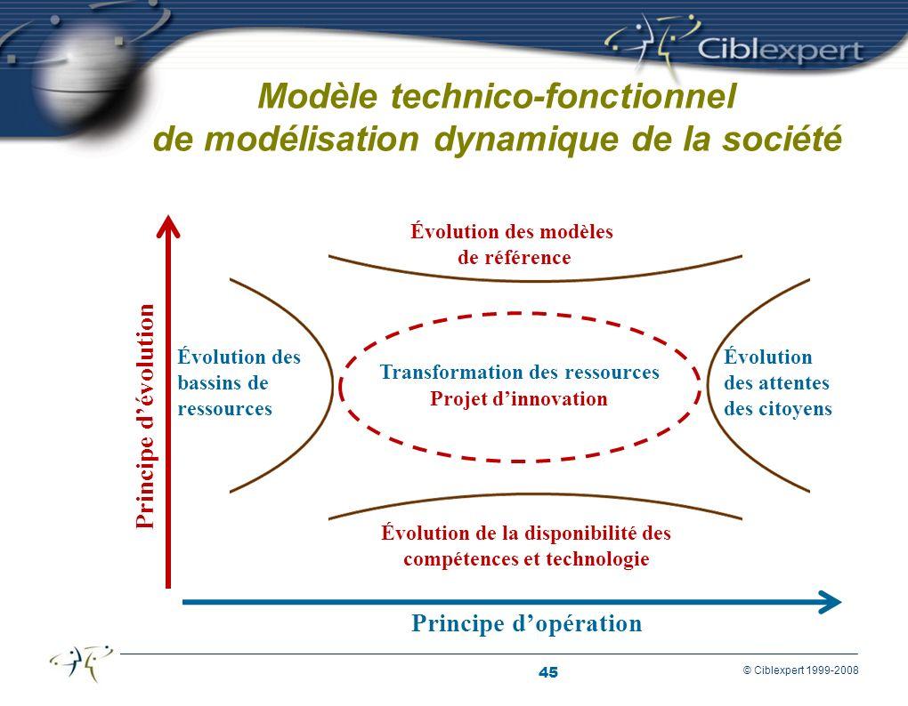 Modèle technico-fonctionnel de modélisation dynamique de la société