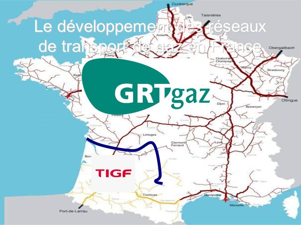 Le développement des réseaux de transport de gaz en France
