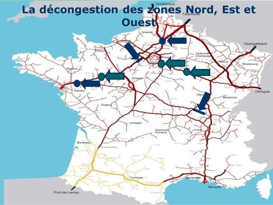 La décongestion des zones Nord, Est et Ouest