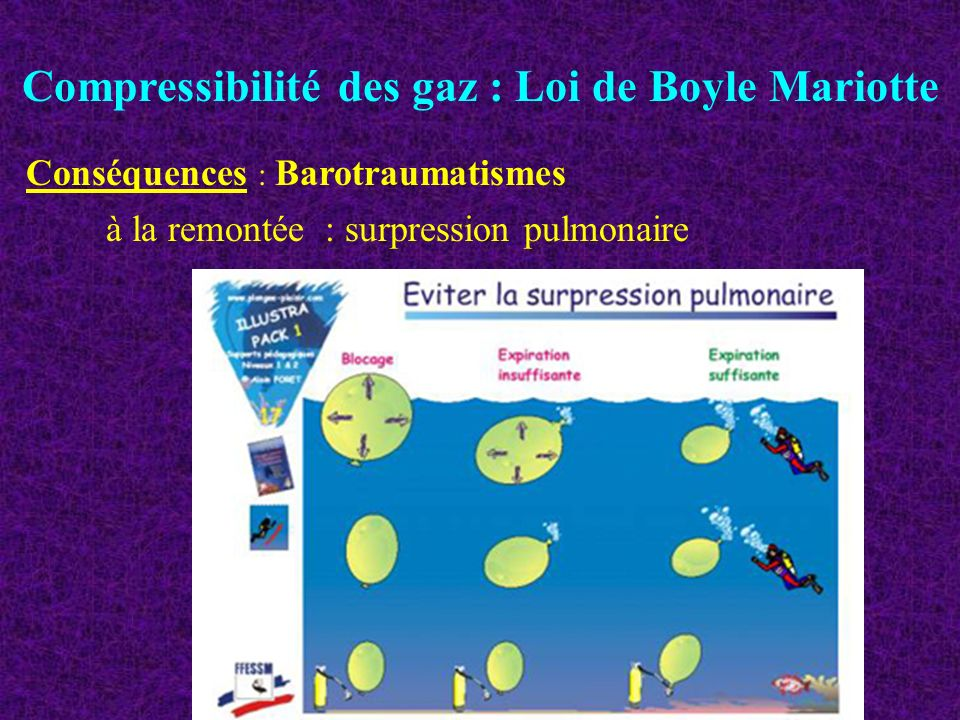 Compressibilité des gaz : Loi de Boyle Mariotte