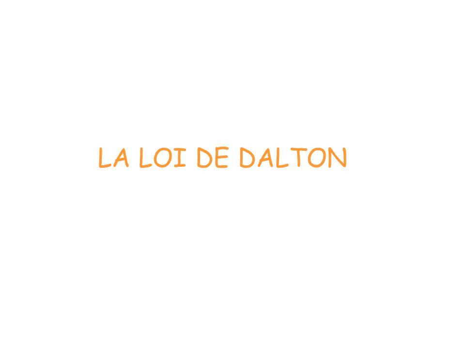 LA LOI DE DALTON