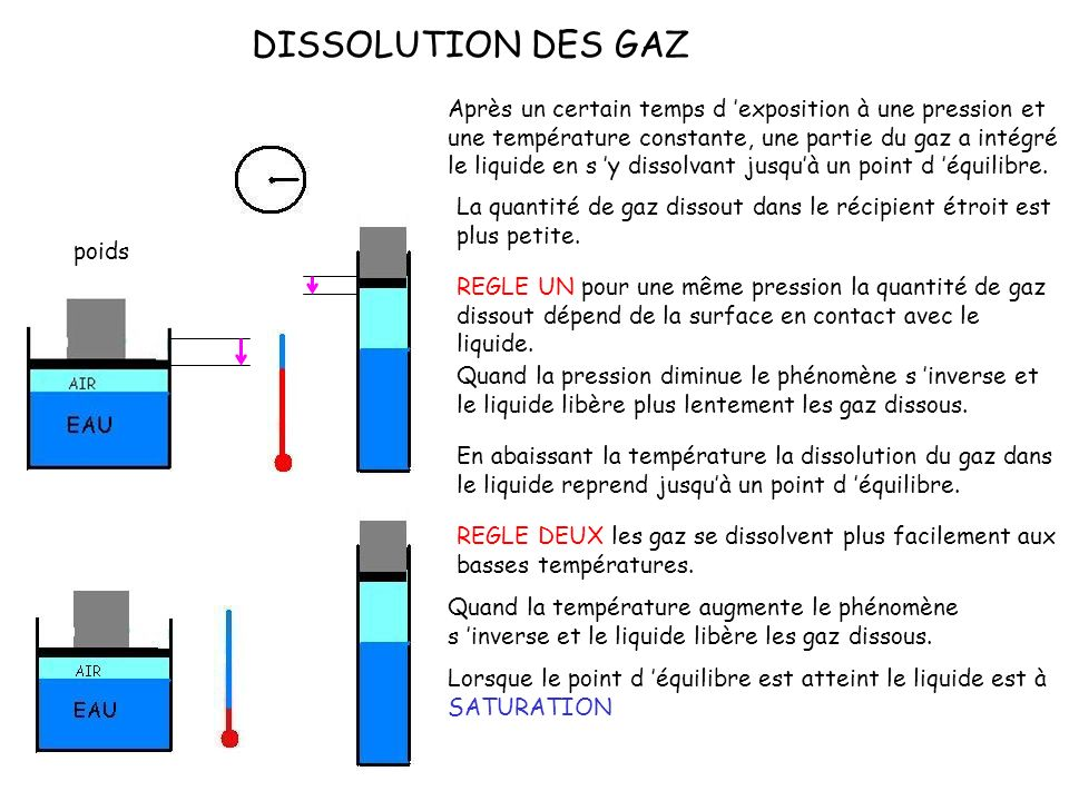DISSOLUTION DES GAZ