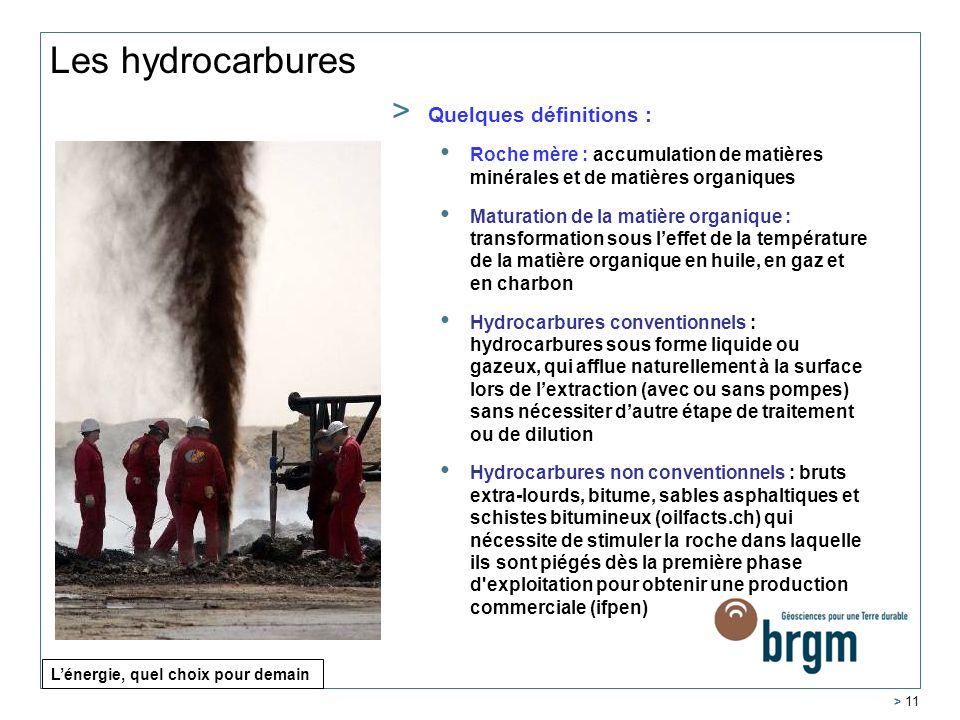 Les hydrocarbures Quelques définitions :