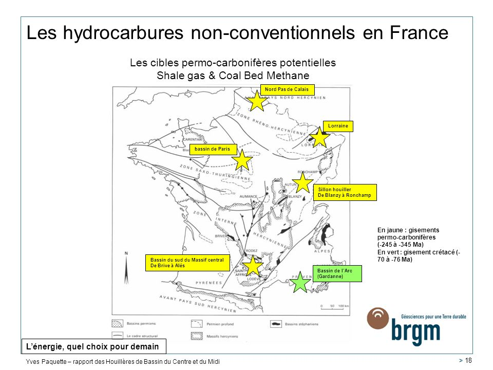 Les hydrocarbures non-conventionnels en France