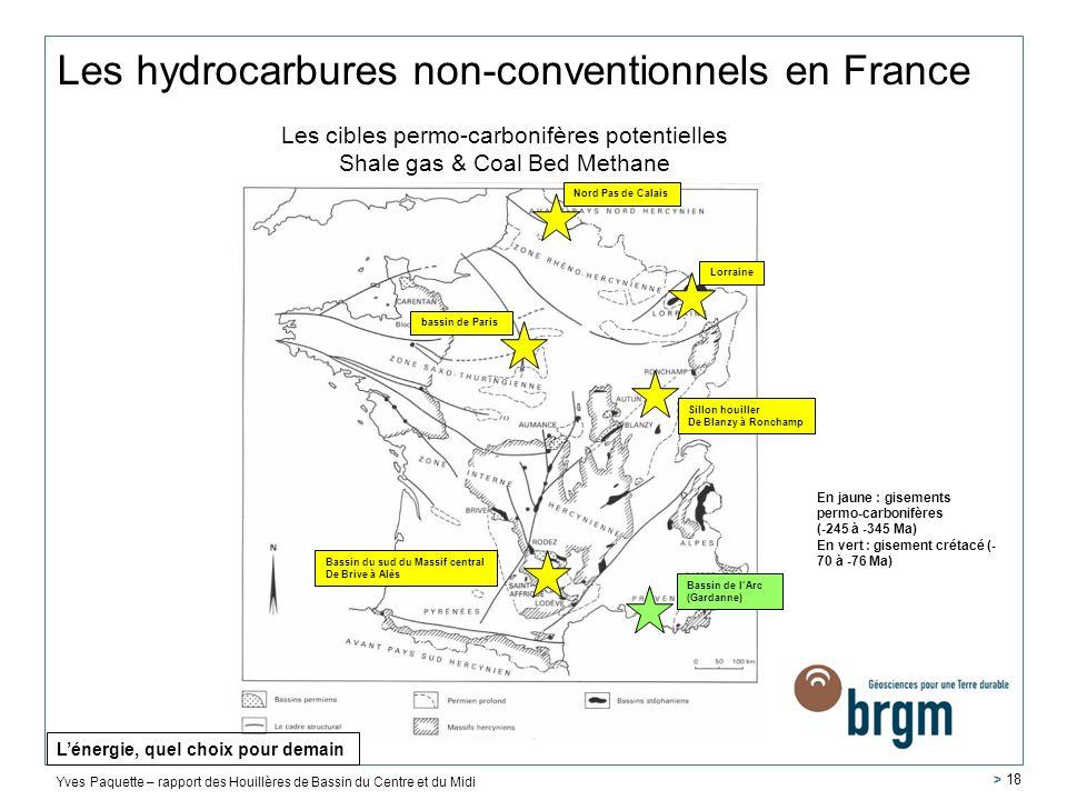 Les hydrocarbures non-conventionnels en France