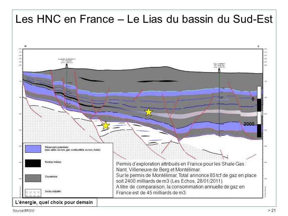 Les HNC en France – Le Lias du bassin du Sud-Est
