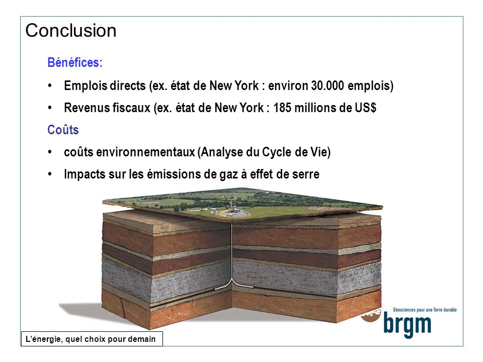 Conclusion Bénéfices: