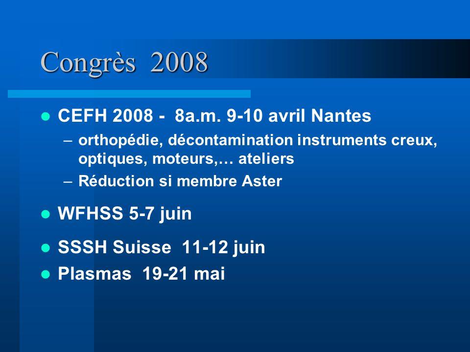 Congrès 2008 CEFH 2008 - 8a.m. 9-10 avril Nantes WFHSS 5-7 juin