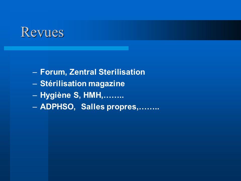 Revues Instructions: Forum, Zentral Sterilisation
